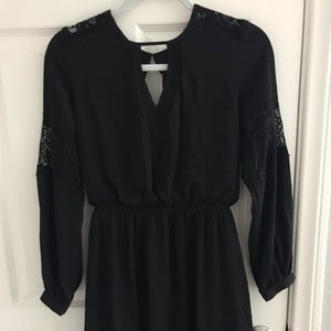Express Black dress with lace detailing